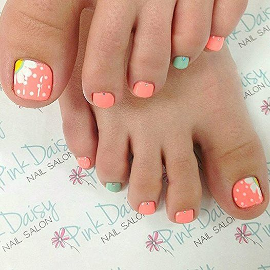 Daisy pedicure by pink daisy nail salon toe nails designs daisy pedicure by pink daisy nail salon prinsesfo Image collections