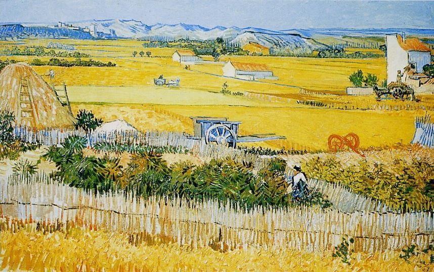 Vincent Van Gogh Le Jardin De Maraîchers Ou La Moisson Junio 1888 Vincent Van Gogh Van Gogh Impressionnisme