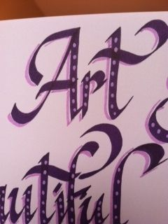art calligraphy close up by rappy2766, via Flickr