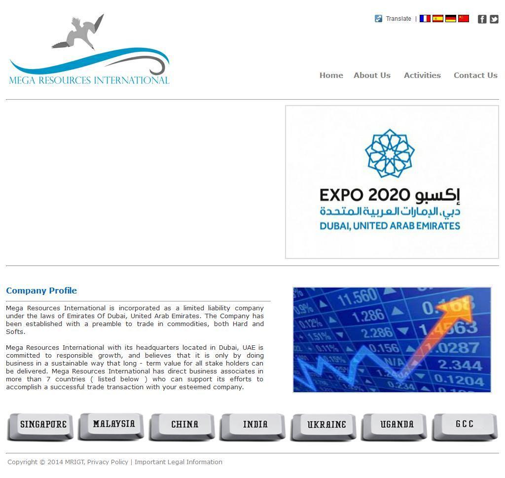 Mega Resources International Llc Al Ameeri Tower 891 1 Sheikh
