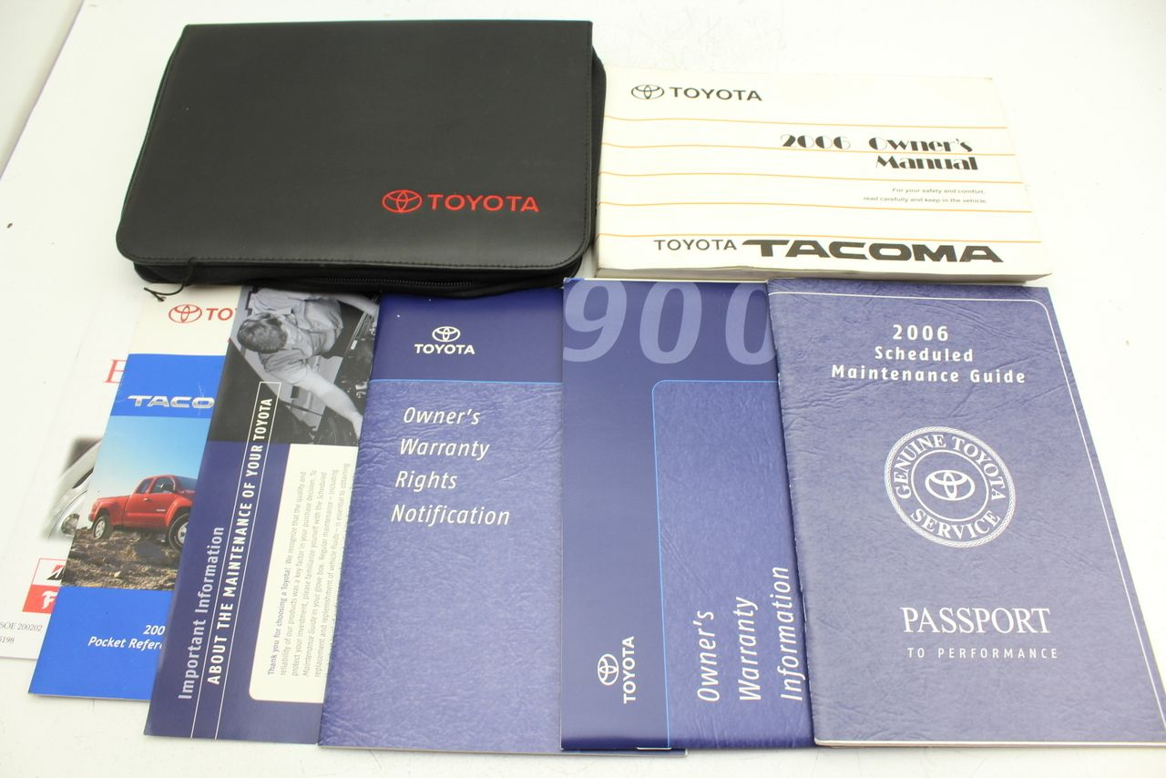 06 toyota tacoma vehicle owners manual handbook guide fandeluxe Gallery