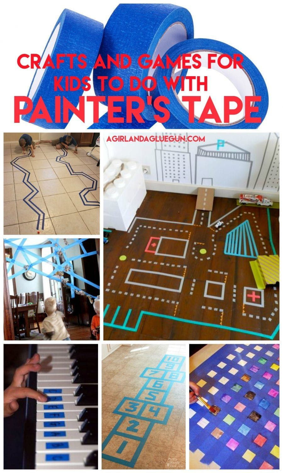 Over 40 Painters Tape Games And Activities Painters Tape