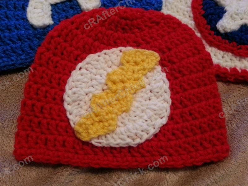 875cf69b6 The Flash Superhero Beanie Hat Crochet Pattern : cRAfterChick - Free ...