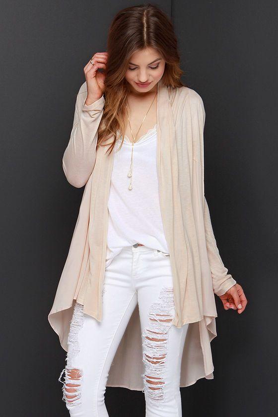 Checking In Light Beige Cardigan Sweater | Light beige, Beige and ...