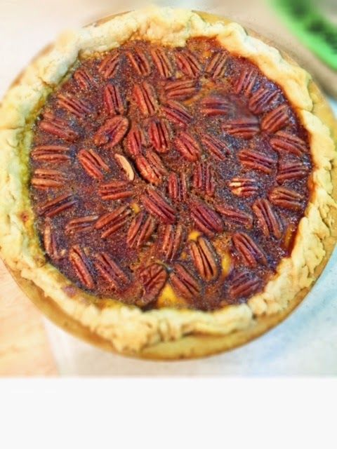 My mom has been making pecan pies for our Christmas ...