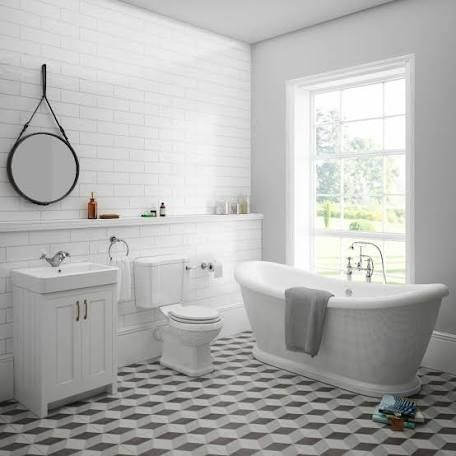 chic and stylish bathroom flooring ideas - timber, tiles
