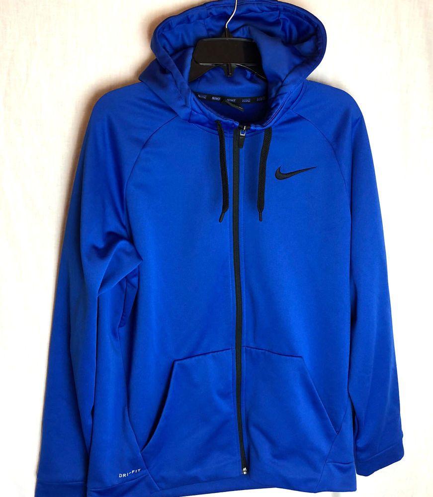 Nike Dri Fit Therma Full Zip Hoodie Size Large Mens Blue Traning Nike Fullziphoodie Under Armour Outfits Full Zip Hoodie Nike Dri Fit [ 1000 x 871 Pixel ]