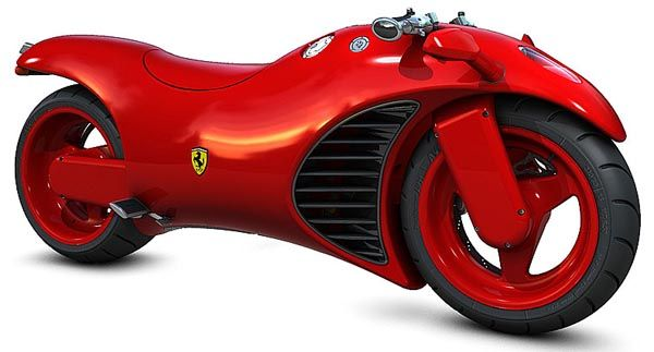 The best of both worlds a Ferrari and a motorcycle!