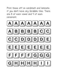scrabble tiles for word work