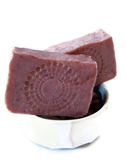 Red Currant Soap - Handmade Hot Process Bar - Shea Butter Soap - Delicate by Nature. $6.00, via Etsy.
