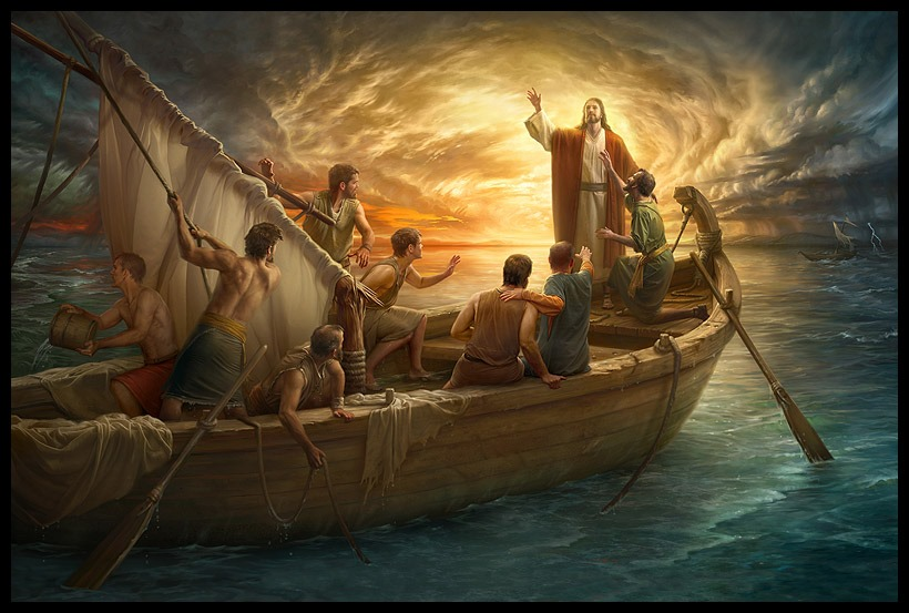 Pin By Lord Jesus Christ On 调色 Landscape Canvas Jesus Pictures Jesus Calms The Storm