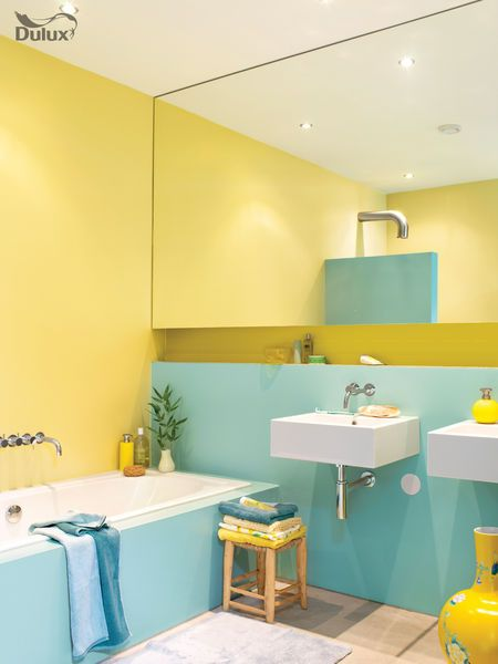 surprising modern yellow bathroom | Turn your bathroom into a rejuvenating sanctuary with ...