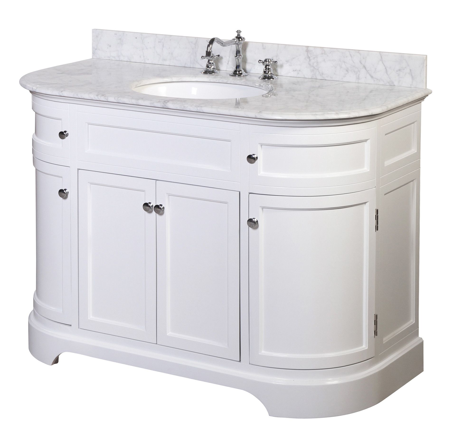 Carrara Charcoal Gray Includes Charcoal Gray Cabinet With Authentic Italian Carrara Marble Countertop And White Ceramic Sink Katherine 42 Inch Bathroom Vanity Bathroom Vanities Tools Home Improvement