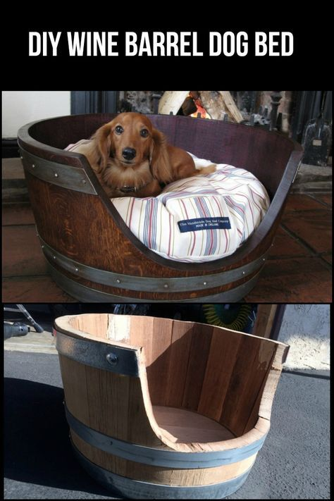 Terrific Turn A Wine Barrel Into A Dog Bed Barrel Dog Bed Wine Gmtry Best Dining Table And Chair Ideas Images Gmtryco