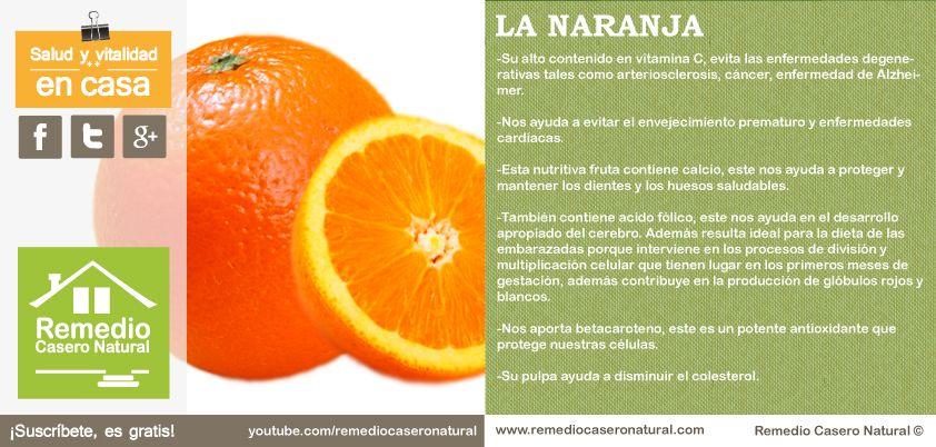 que nutrientes tiene el naranja