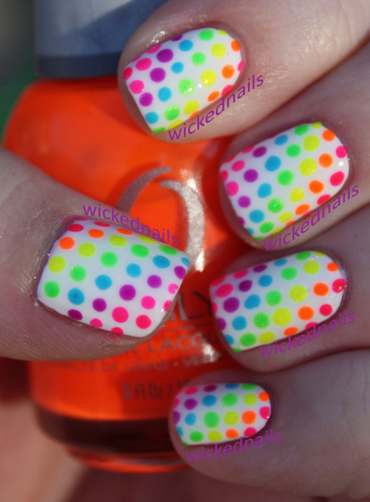 Nail Art Rainbow Dots Rainbow Nails Rainbow Nail Art Nails