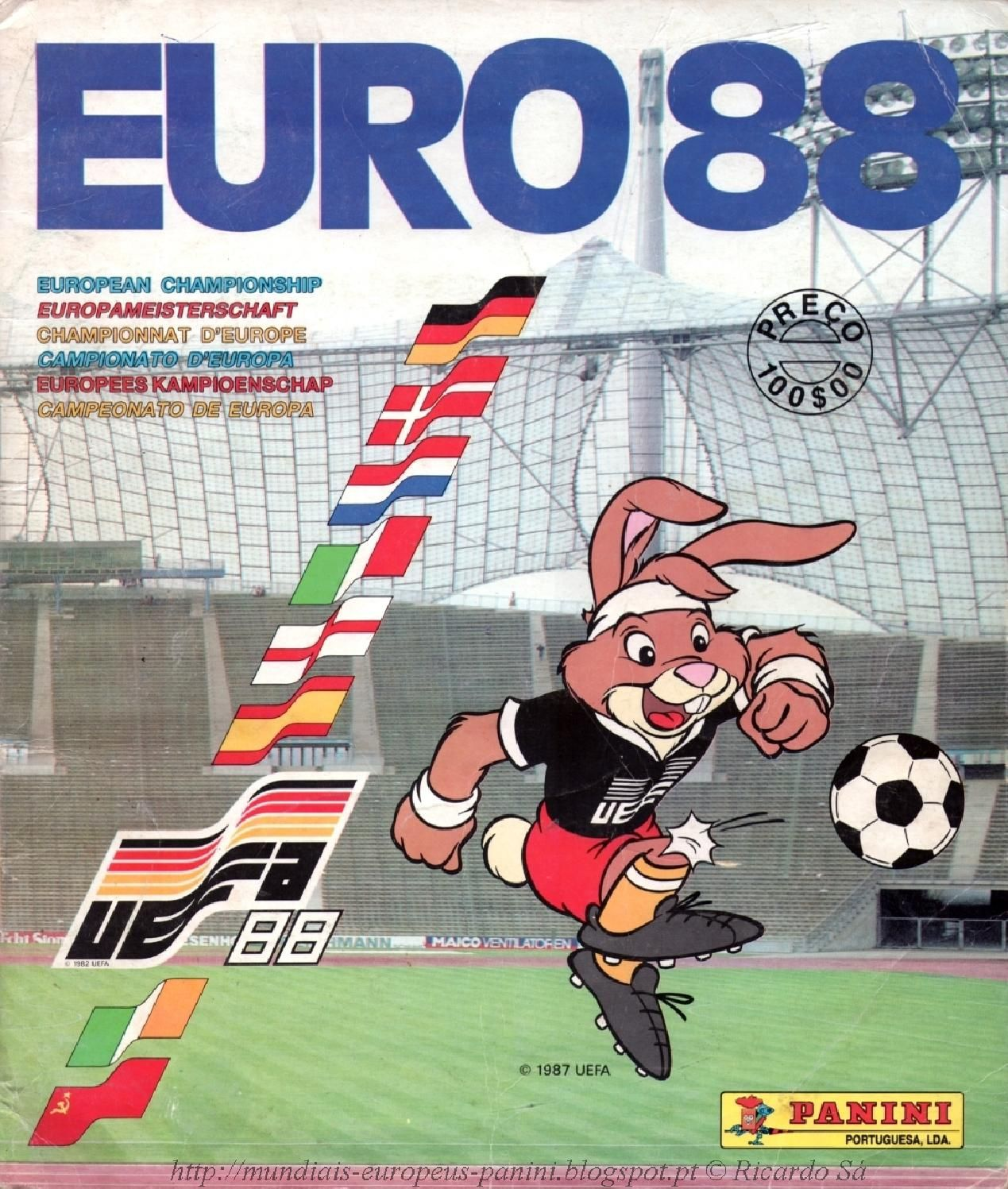 Album Uefa Euro Cup West Germany 1988 Panini Football Stickers
