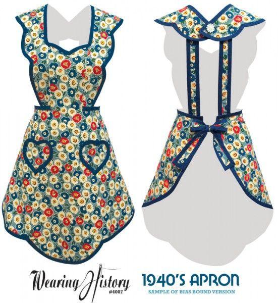 Free Printable Vintage Apron Pattern | Vintage Apron Patterns Free | 1940u2032s Apron  Pattern Part 21