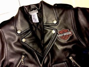 Harley Davidson Kids Toddler Motorcycle Biker Faux Leather Jacket 4t Boy Girl Harley Davidson Kids Leather Jacket Faux Leather Jackets