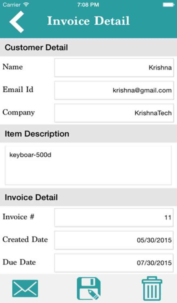 The Invoice Maker app allows you to create invoices \ send invoice - send invoices