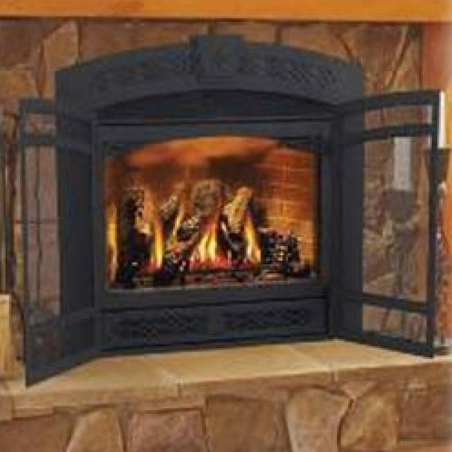 Napoleon Fireplace Faceplate With Screen Doors Gd427 X For Home