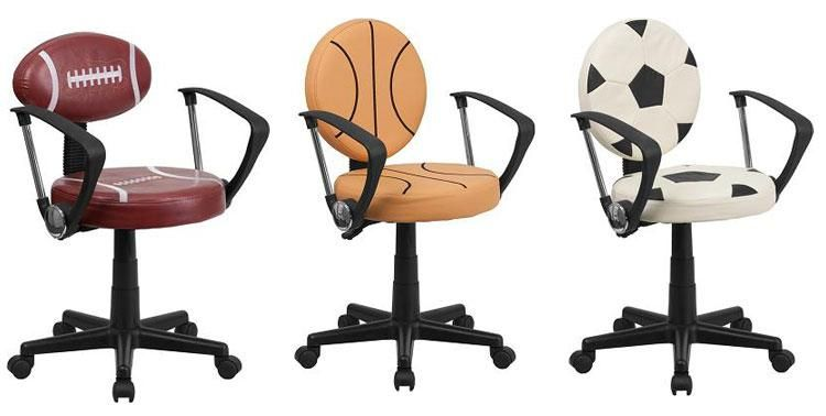 kids office chairs bouncy chair for infants sports themed desk hell yes this is perfect isaac football to match his theme in room