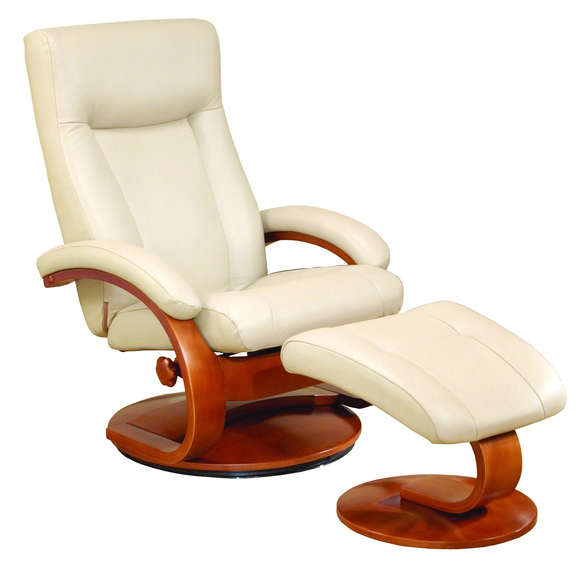 Flathead Lake Manual Swivel Recliner With Ottoman Recliner With
