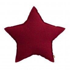Coussin étoile Rouge