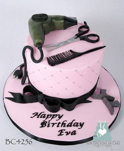 Bc4256 Hair Dresser Birthday Cake Toronto Oakville Hairdresser Cake Cake Hair Stylist Cake