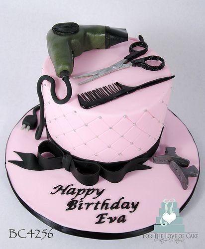 Superb Bc4256 Hair Dresser Birthday Cake Toronto Oakville Hairdresser Personalised Birthday Cards Cominlily Jamesorg