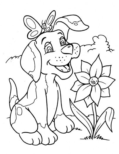 Trend Dogs Coloring Pages 24 cute dog coloring page