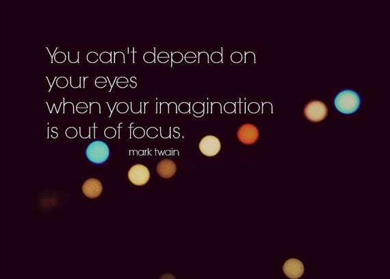 Mark Twain Quote Imagination
