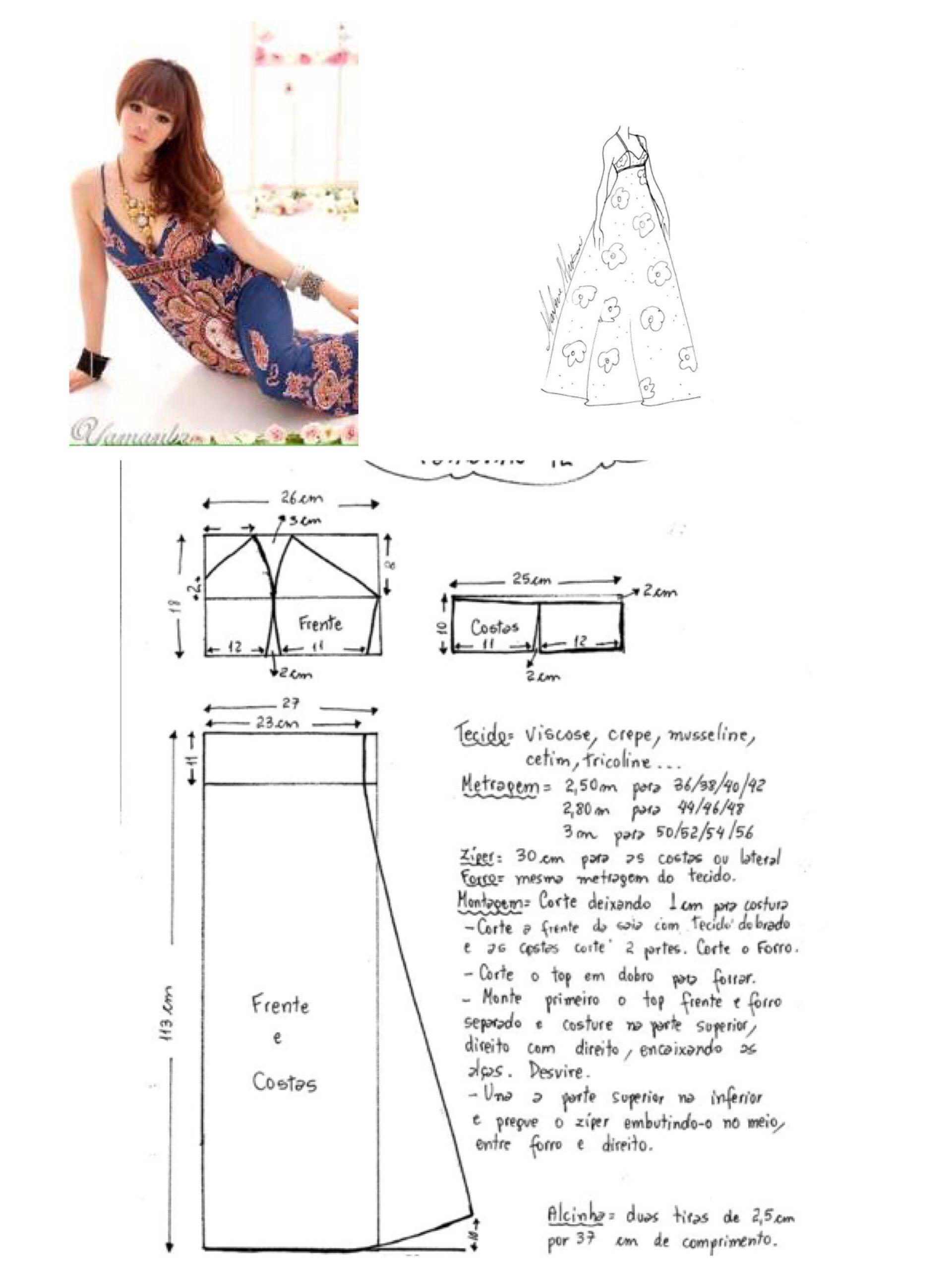 Vestido largo corte imperio | Patrones de costura | Pinterest ...