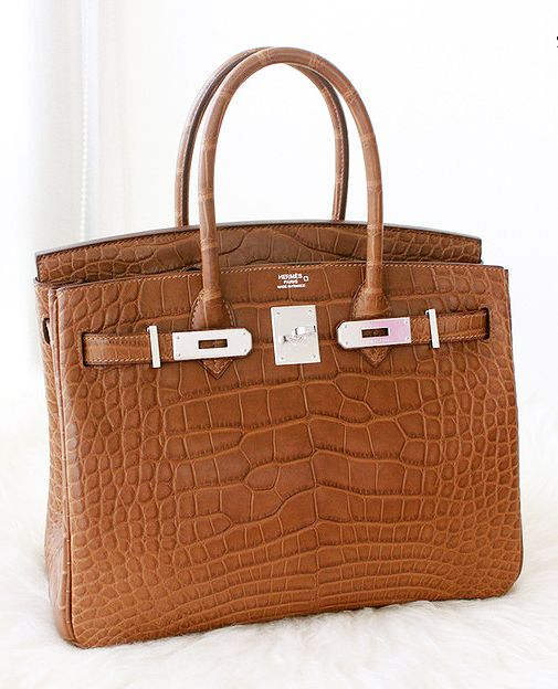 e3bebef5ab08 Hermes brown crocodile Birkin bag.
