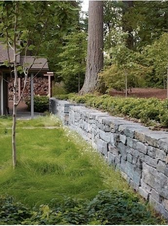 dry-stack stone wall stacked