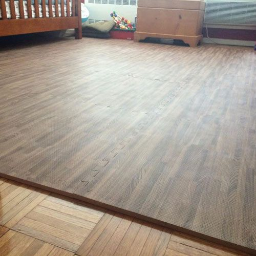 Wood Grain Foam Tiles Reversible Foam Wood Flooring Foam Tiles