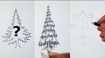 How To Draw A Simple Christmas Scene Decorating For Christmas Youtube Christmas Drawing Christmas Tree Drawing Tree Drawing