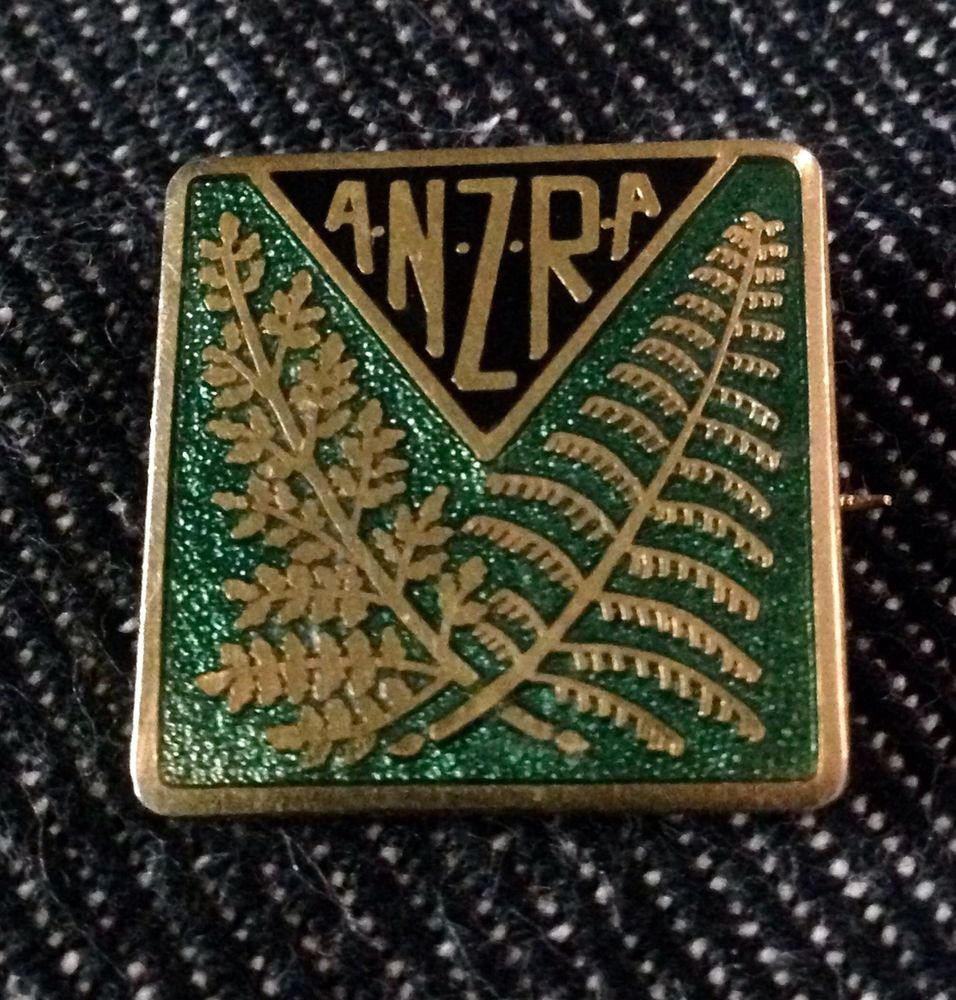 Vintage RUGBY NEW ZEALAND A.N.Z.R.A Pin Badge  | eBay