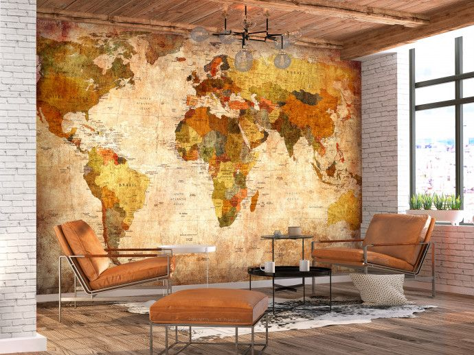 Photo Wallpaper Old World Map