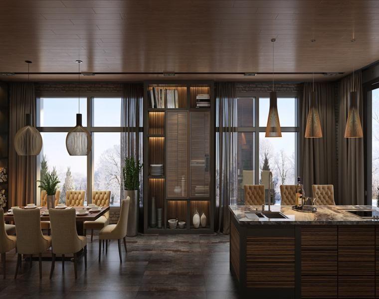 Luxus-Häuser - drei beeindruckende Interior Designs | Dekoration ...