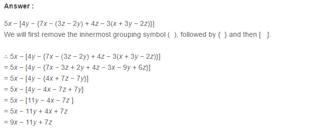 Algebraic Expressions Rs Aggarwal Class 6 Maths Solutions Exercise 8d Aplustopper Rsaggarwal Maths Rsag Maths Solutions Class 6 Maths Algebraic Expressions