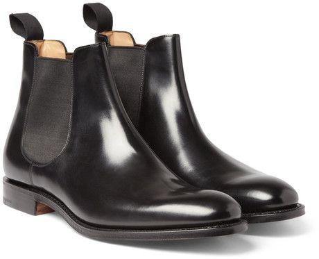 men Beijing Chelsea Leather Black Boots for Church's BoeCrdx