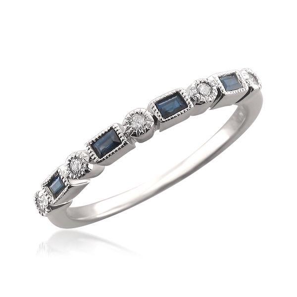 Sapphire and diamond anniversary band