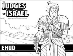 Bible Judges Ehud Coloring Sheet Bible Coloring Pages Sunday