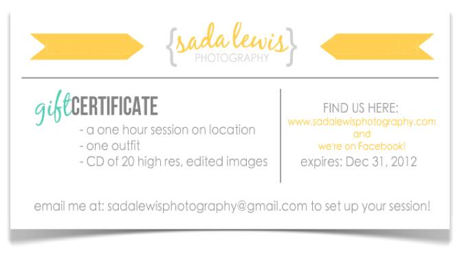 Sada lewis photography gift certificates now available sada sada lewis photography gift certificates now available sada lewis photography san antonio yadclub Images
