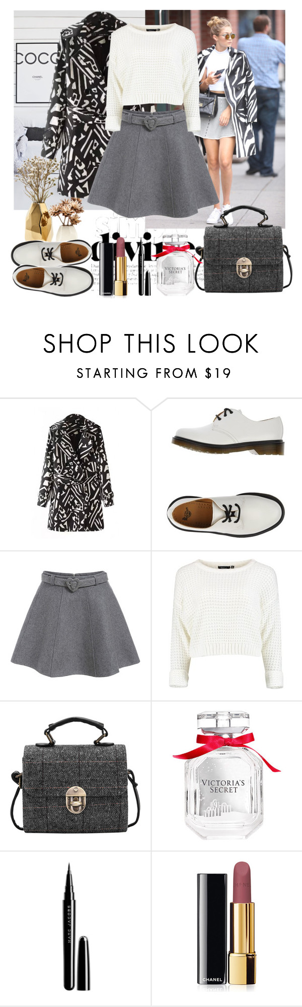 """""""Untitled #551"""" by misaflowers ❤ liked on Polyvore featuring Nate Berkus, DVF, Dr. Martens, Victoria's Secret, Marc Jacobs and Chanel"""