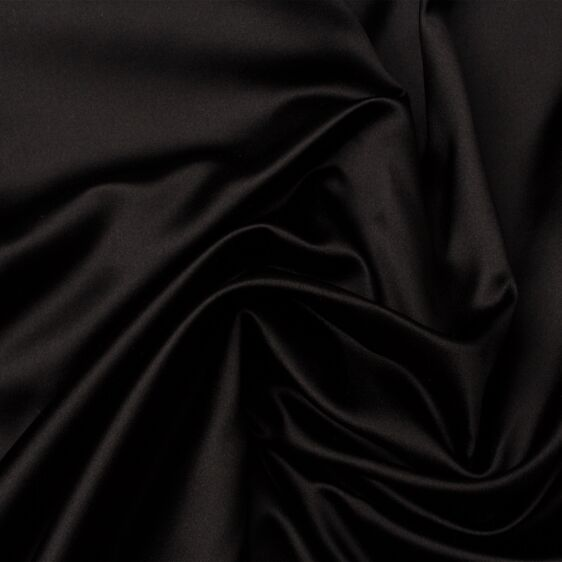 Black Silk Duchess Satin