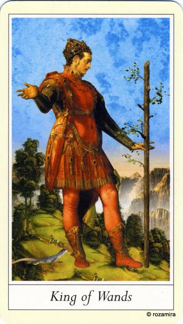 King of Wands - Lovers' Tarot by Jane Lyle and Oliver Burston