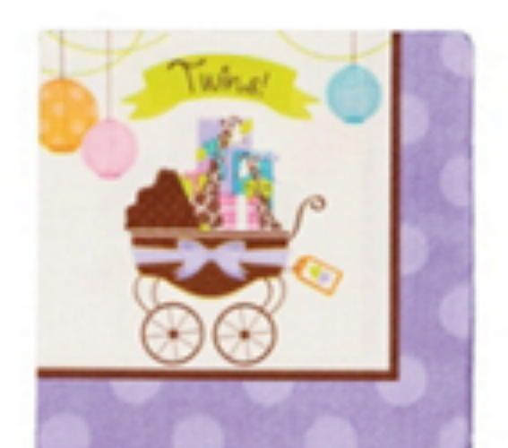 Paper Beverage Napkins Modern Mommytwins Made In Usa Babies