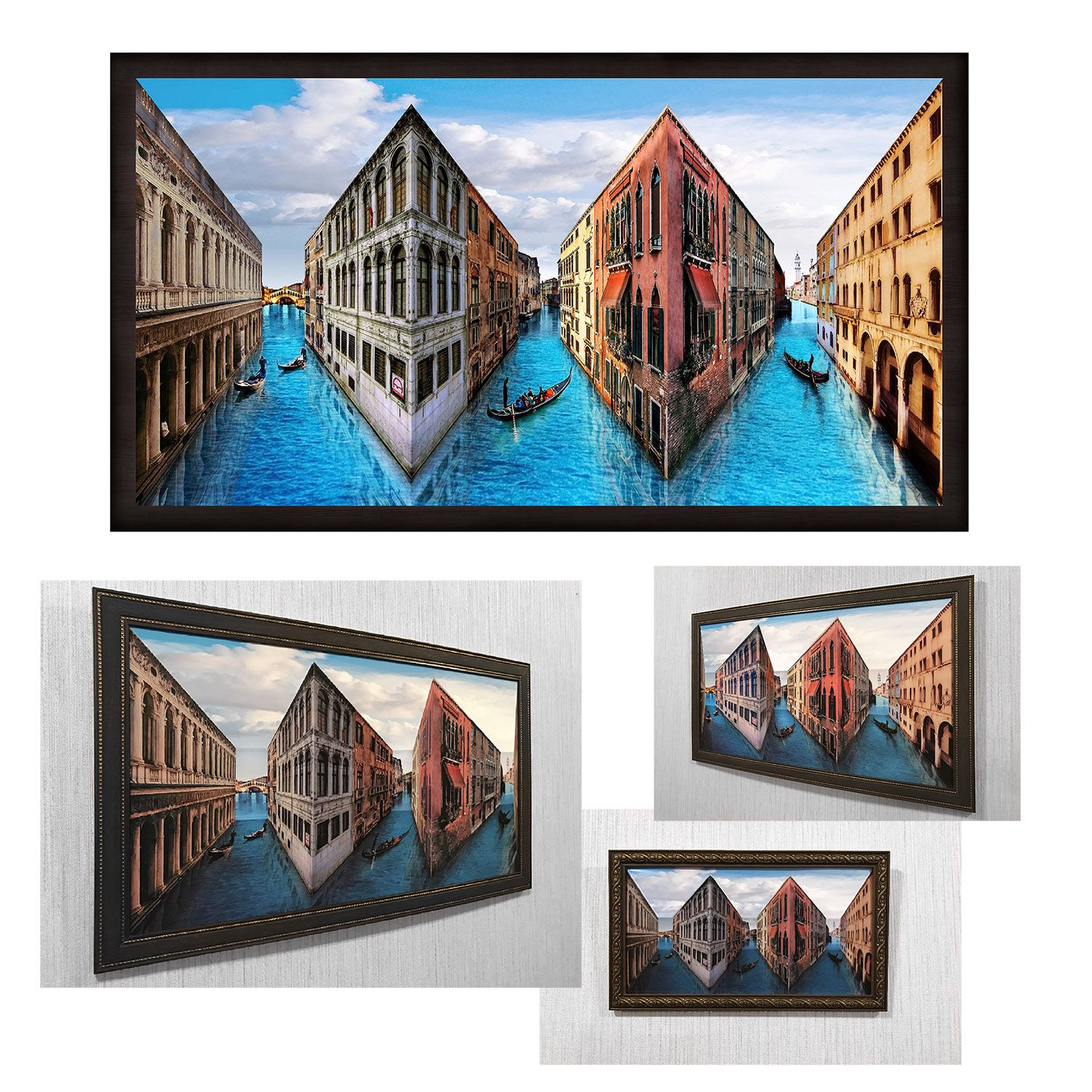 Reverspective Reverse Perspective Poster Venice 3d Wall Art Picture Illusion